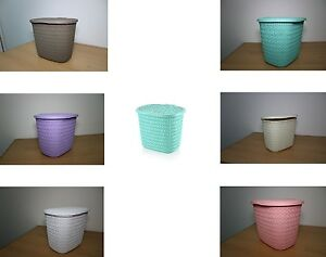 Image Is Loading New Plastic Laundry Basket Tidy Washing Detergent Storage
