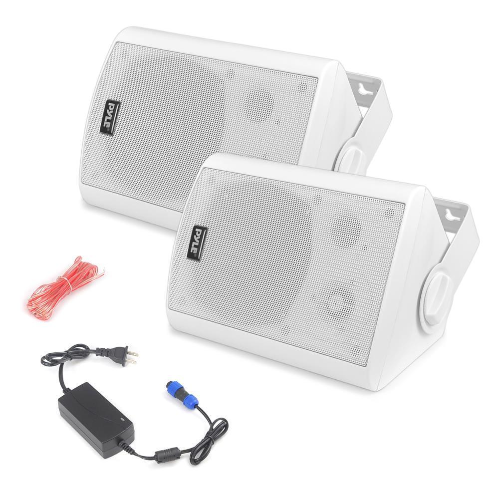 Pyle PDWR61BTWT Wall Mount Waterproof & blueetooth 6.5  In Outdoor System