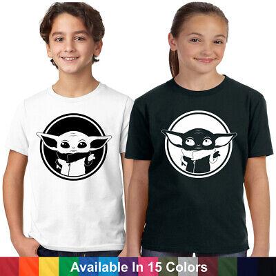 Baby Yoda Star Wars Mandalorian Disney Vacation T Shirt YOUTH Kids Boy Girls Tee