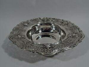 Shreve-Adam-Bowl-9138-Antique-Centerpiece-American-Sterling-Silver