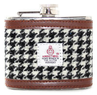 4oz Harris Tweed Stainless Steel Boxed Pocket Hip Flask Wedding Alcohol Gift