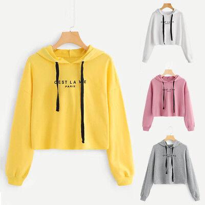 Rose Women Best Friend Long Sleeve Hoodie Sweatshirt Hooded Pullover Blouse CF