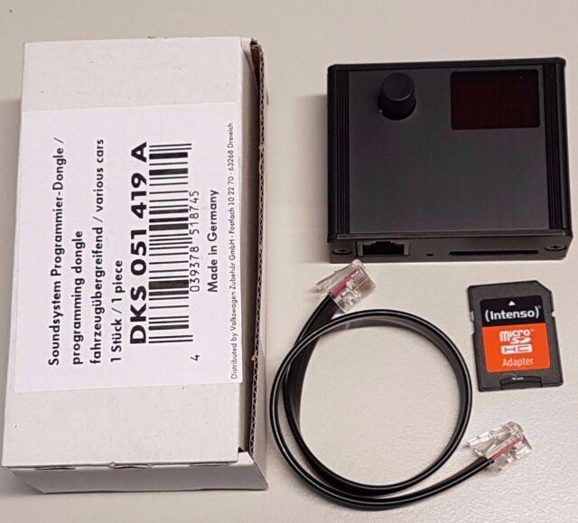 Programmierdongle Plug /& Play de sonido Helix subwoofer originales de VW dks051419a