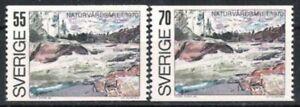 Dynamique La Suède Nº 674/75 ** Naturschutzjahr 1970, Cachet-r 1970, Postfrisch Fr-fr Afficher Le Titre D'origine