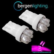 2X W5W T10 501 XENON ROSA 7 DOME LUCE INTERNA DI CORTESIA A LED LAMPADINE HID