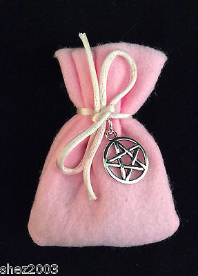 Herb Spell Charm Bag with Pentagram ~ 16 to Choose From ~ Complete with a spell