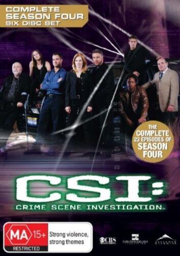 1 of 1 - CSI: Crime Scene Investigation : Series 4 (DVD, 2006, 6-Disc Set)
