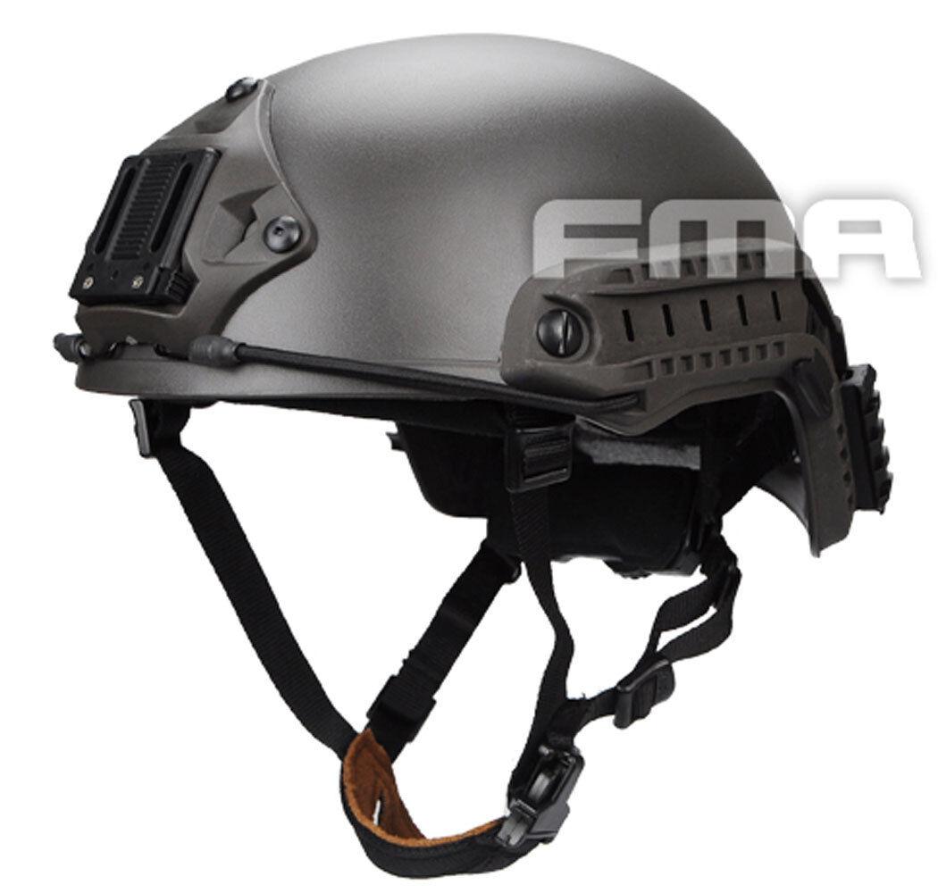 NEW FMA Airsoft CS Outdoor Protective Ballistic Helmet Mass grau L1052 Größe M L
