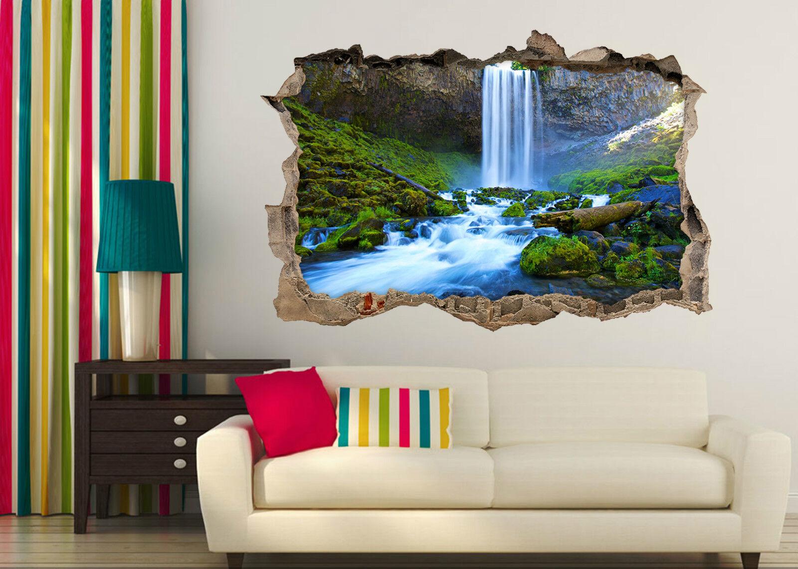 3D Wasserfall 623 Mauer Murals Aufklebe Decal Durchbruch AJ WALLPAPER DE Lemon