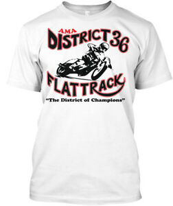 District-36-Flattrack-Racing-Champions-Ama-The-Of-Hanes-Tagless-Tee-T-Shirt