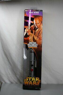 Star Wars Revenge Of The Sith Mace Windu Electronic Lightsaber 2005 Hasbro New Ebay