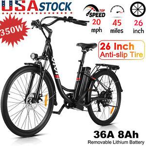 """350W Electric Bike 36V Adult Electric Bicycle 26"""" 20mph Electric Cruiser Bike"""
