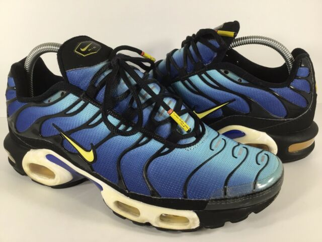 best cheap fc721 e5c33 Nike Air Max Plus Tn Hyper Blue Yellow Black White Mens Size 9.5 Rare  604133-