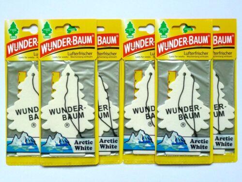 1,50€//Einheit 6x WUNDER-BAUM Arctic White Lufterfrischer Auto Duft Magic Tree