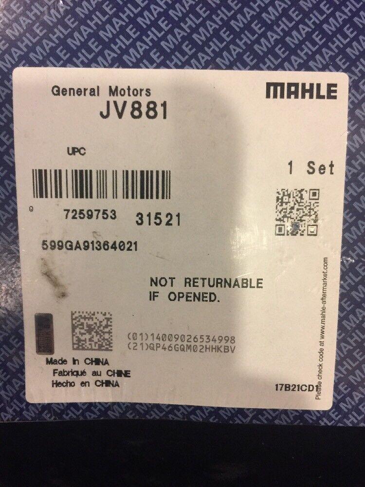 Engine Timing Cover Gasket Set Mahle JV881