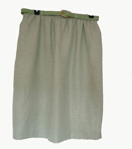 NEW Green SKIRT Size 20 XL Spring Belt Alfred Dunner PALM Paradise Island NWT