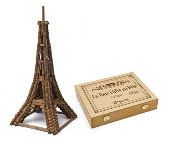 Jeujura - 8079 - Jeu De Construction - La Tour Eiffel - Coffret En Bois - 520