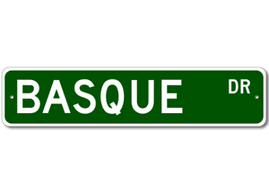 BASQUE-Street-Sign-Personalized-Last-Name-Signs