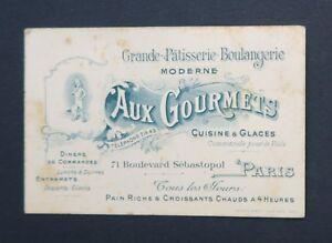 Carte De Visite AUX GOURMETS Patisserie Boulangerie Glace