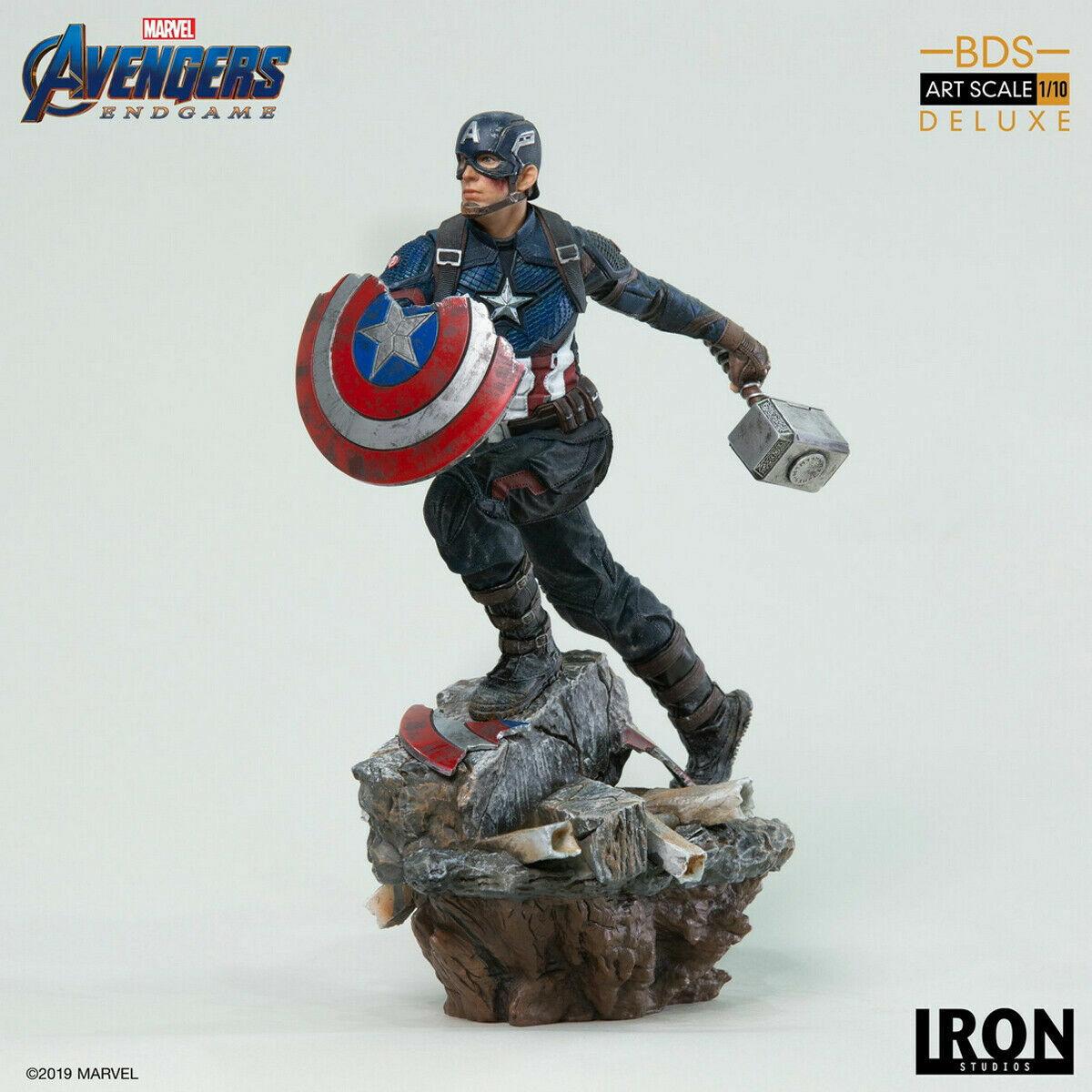 Iron Studios Captain America Deluxe BDS Art Scale 1/10 Avengers: Endgame Statue on eBay thumbnail