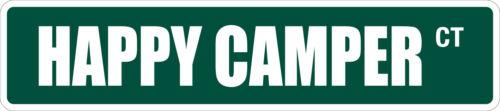 "*Aluminum* Happy Camper 4/"" x 18/"" Metal Novelty Street Sign  SS 1663"