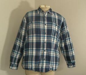 Mens-Large-WRANGLER-SHERPA-Pile-Fleece-Lined-Flannel-Shirt-Jacket-Plaid-Check