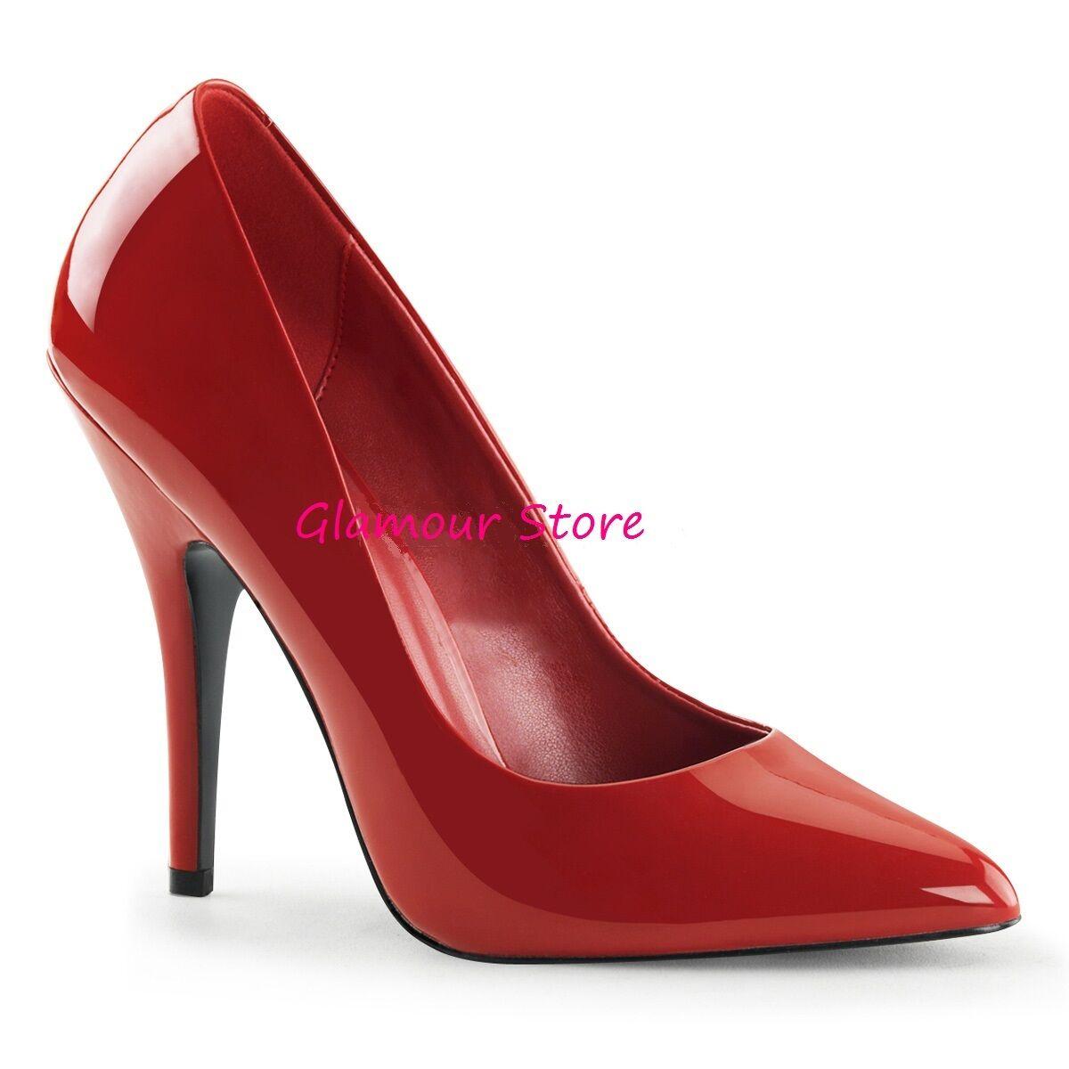 Sexy DECOLTE' tacco 13 dal 35 scarpe al 46 ROSSO LUCIDO scarpe 35 Glamour fashion 1b6d4d