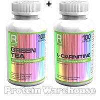 Reflex Green Tea 100 Caps + L-carnitine 100 Capsules Slimming Diet Lean Pills