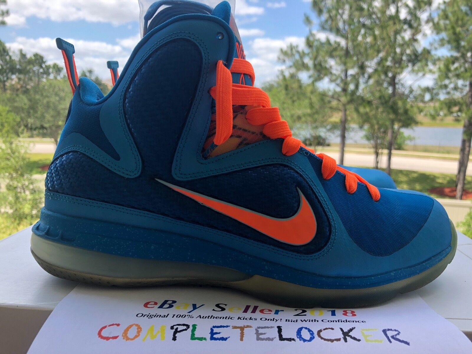 Nike Lebron 9 IX CHINA Blue/Orange 469764-800 Mens Sport Shoes Big Bang SZ 10