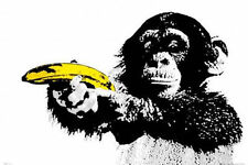 MONKEY BANANA SHOOT POSTER - 24x36 SHRINK WRAPPED 33561