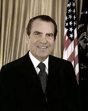 "RICHARD MILHOUS NIXON 37th US PRESIDENT CALIFORNIA 8x10"" HAND COLOR TINTED PHOTO"