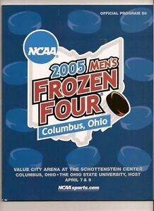 2005 NCAA Mens Frozen Four Program Final 4 North Dakota Minnesota Denver