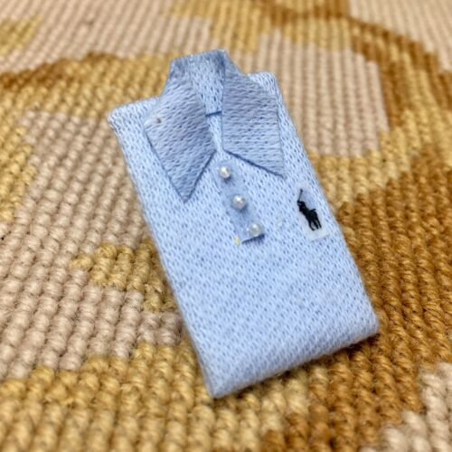 Pat Tyler Dollhouse Miniature Polo Folded Shirt Apparel Garment Clothing p755