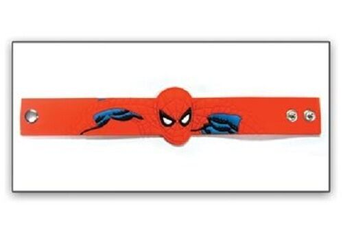 *NEW* Marvel Spider-Man Red Die Cut Snap-On PVC Wristband by Bioworld