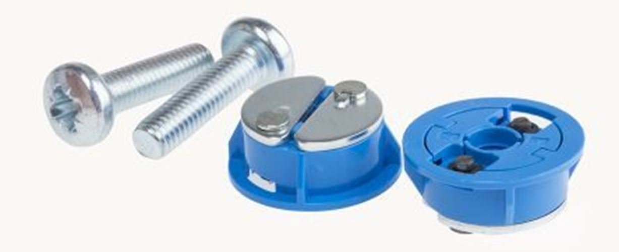 GripIt Fixings bluee Acetal, Steel Plasterboard Fixings with 25mm fixing hole dia