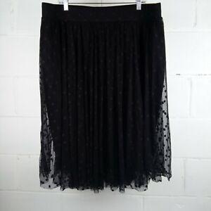 Torrid-Polka-Dot-Skirt-Women-Plus-Size-2-Black