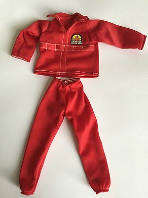 Six Million Dollar Man New Pro Made Replacement Red Tracksuit Rebuild Him Bionic