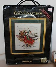 Santa Christmas Cross Stitch Kit Gold Collection Dimensions Windswept Pattern