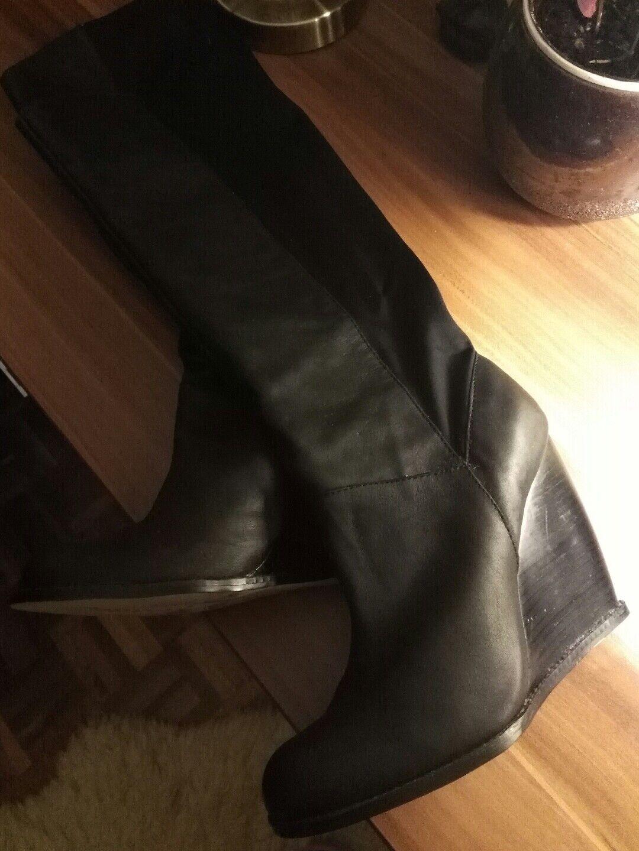 Botas de cuero para mujer negro, tamaño 5 (Reino Unido)