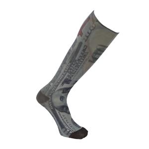 Gln Sports Adult Tie Dye Dollar Sublimated Print Crew Socks