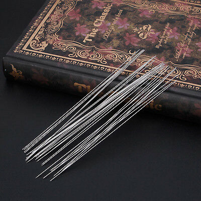 30Pcs Beading Needles Threading String Cord Jewelry Craft Making Tool 0.6 x120mm