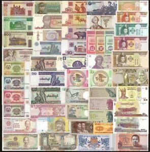 50 PCS Different Mix World Banknotes 20 Countries Genuine ...