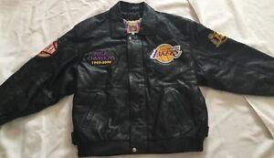 Hamilton Lakers Nba Champions Jeff 19992000 Leather Jacket Black YCYqraw
