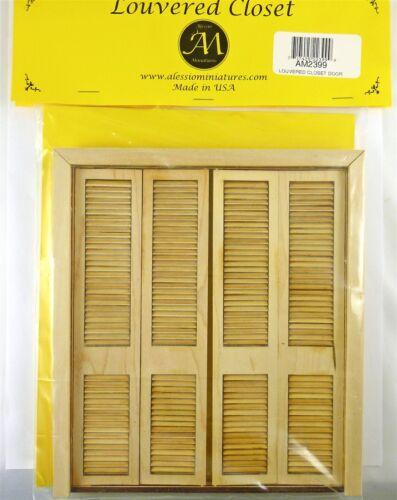 Dollhouse Miniature Louvered Working Closet Door, AM2399