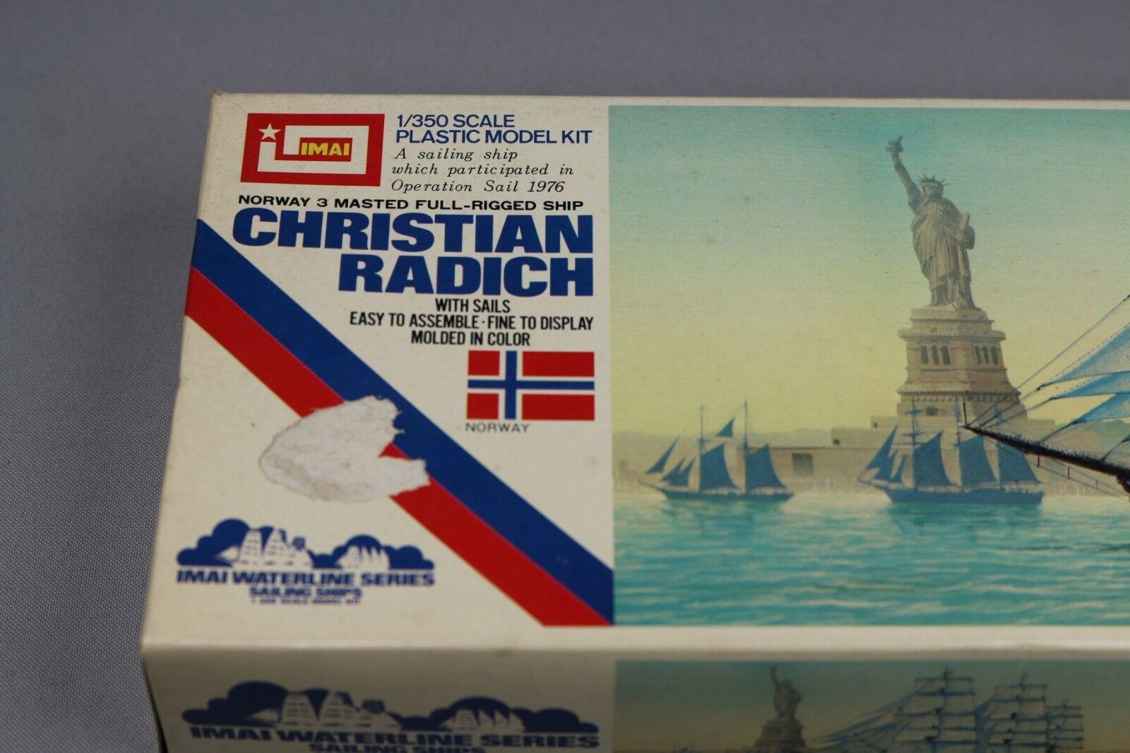 Zf960 Imai 1 350 350 350 Maqueta Barco B-322 Christian Radich Norway 3 Masted Ship 17bc46