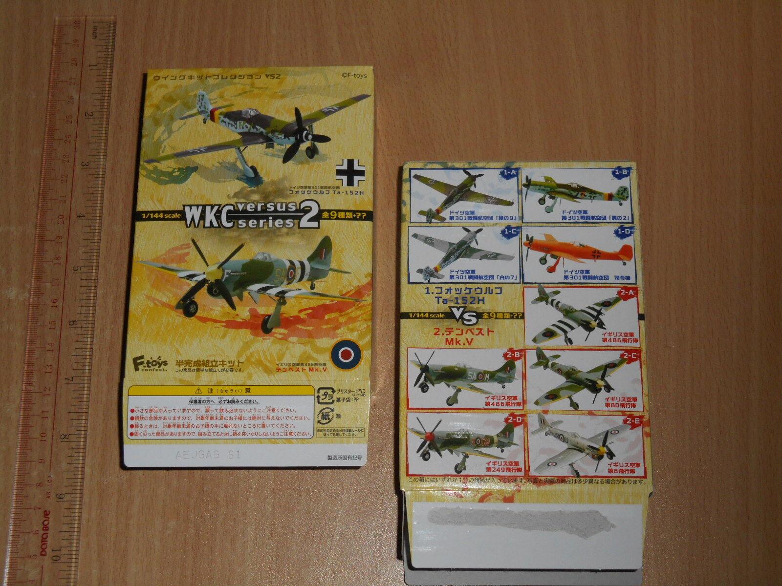 F-Juguetes 1 144 Ala Kit Colección WKC versus serie 2 VS2 Set Completo De 10 un. el pasado
