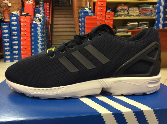more photos 00af7 07a1b adidas Originals ZX Flux Navy White Mens Running Shoes SNEAKERS ...