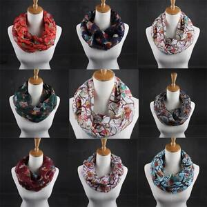 NEW-SALE-Scarf-Women-Lady-Owl-Pattern-Print-Scarf-Voile-Warm-Wrap-Shawl-Scarves