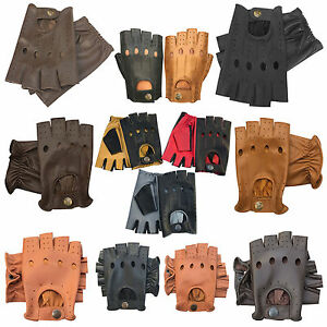 New-retro-style-quality-soft-leather-fingerless-driving-gloves-unlined-fashion