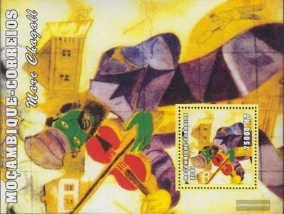Stamps Professional Sale Mosambik Block102 Postfrisch 2001 Kunstwerke Agreeable Sweetness Stamps